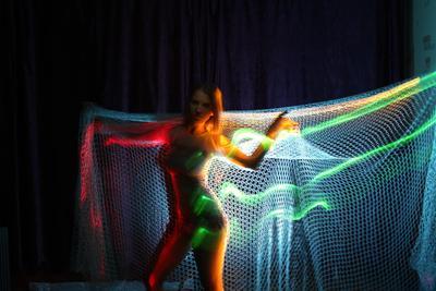 Gold Fish 2 сети светодиоды изгиб необычно оригинально фантазия яркость разноцветные голубой зеленый золотой физика волны рыболовные снасти