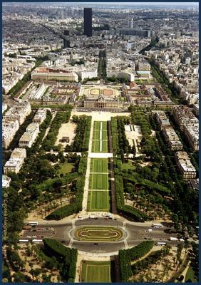 Париж. Вид с Эйфелевой башни Париж Эйфелева_башня Франция