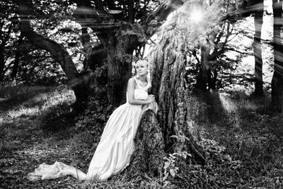 Нимфа свадьба невеста лес