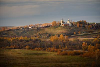 Село Горицы на закате