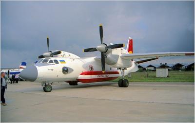 Ан-32П Ан-32П авиация самолет стоянка Жуковский 1999