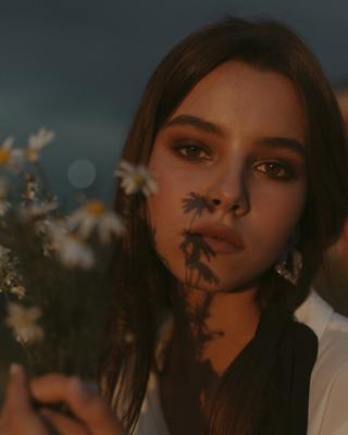 Ромашки Закат ромашки модель портрет мода фотосессия