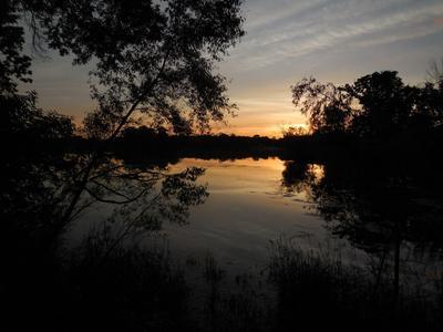 Закат на безымянном озере Природа