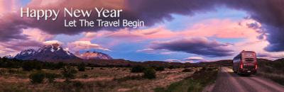 С новым годом!  Много путешествий в будующем году! новый год патагония чили торрес дель пайн