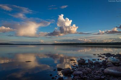 Вечер на Ладоге путешествие Карелия Ладожское озеро вечер закат облака природа