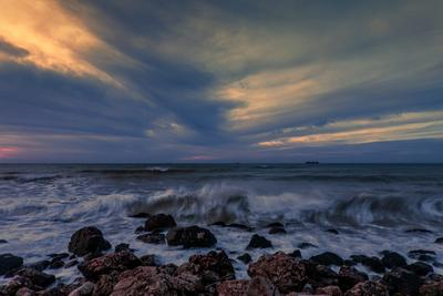 прибой Прибой море пейзаж вечер закат