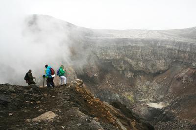 Кратер вулкана Горелый Камчатка вулкан Горелый