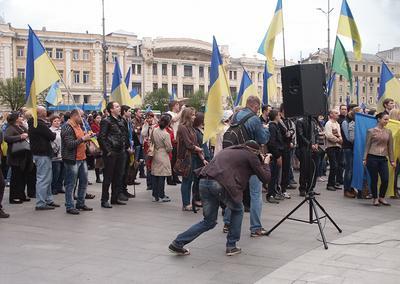 Харьковская весна 2014 митинг харьков