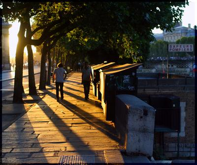 Закат в Париже Закат Солнце Париж