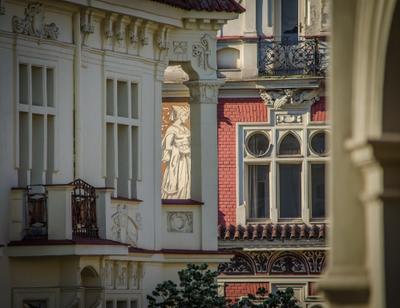 Горожанка Прага Vinohradská Фасады