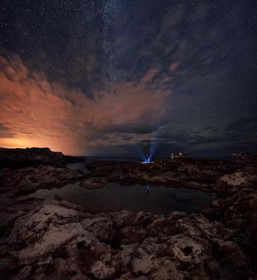 На берегу пейзаж море ночь звезды