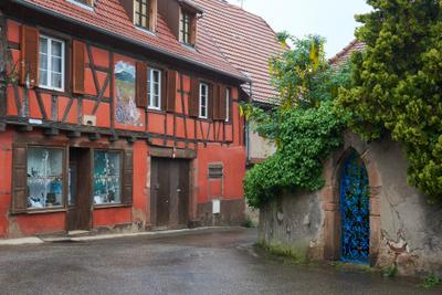 Городок в Эльзасе alsace wine route Heiligenstein france винная дорога эльзаса франция эльзас