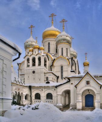 Новый собор архитектура Москва памятники пейзаж храмы церковь собор панорама