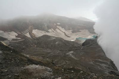 Вулкан Горелый. Голубое озеро Камчатка вулкан Горелый