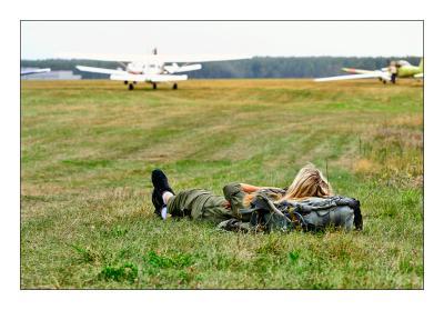 Женщина и авиация Девушка, самолет
