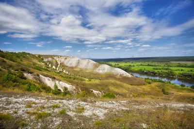 Меловое склоны Дона сторожевое, холмы, склоны, река, дон, мел, простор, пейзаж, красота