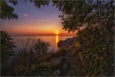 Закат солнца на Фиаленте Крым Севастополь Фиалент вечер