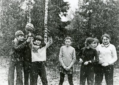 Первый снег зима