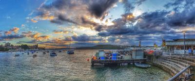 Вечер на пирсе... пирс океан вечер Сидней