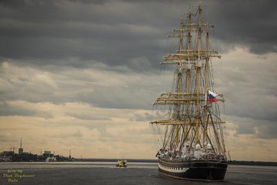***барк Крузенштерн в Архангельске порт парусник архангельск