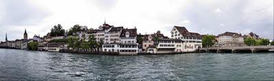 На берегу Лиммата Швейцария Цюрих река Лиммат