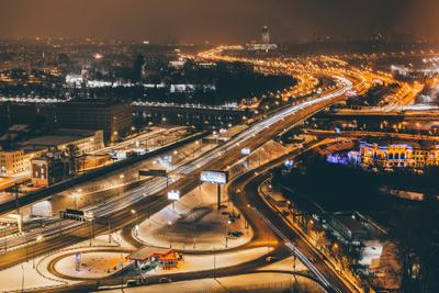 Moscow nights and lights