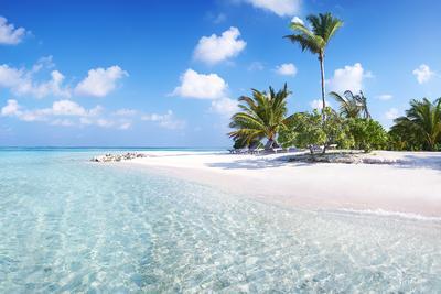 Пляж. Мальдивские острова.