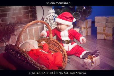 Новогодняя детская Новогодняя детская семейная фотосъемка