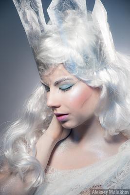 Снежная королева девушка образ снежная королева белый