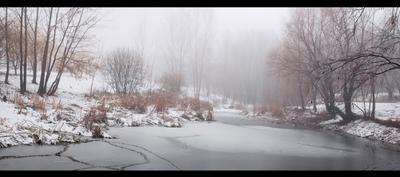 Туманное утро ноября..