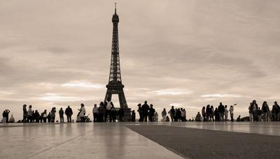 Paris Париж Эйфелева башня