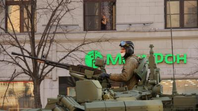 Репетиция парада Москва улица парад техника танкист танк