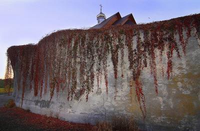 Возвышение веры церковь скала крест вера закат