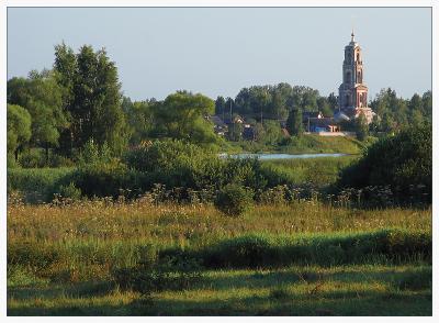 Малиновый звон пейзаж, природа, лето, деревня, церковь
