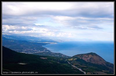 Крымские зарисовки #2 Крым, Гурзуф, Ялта, Алушта, Парагельмен, Кастель, горы, море, небо, облака, лес, дорога, пейзаж, свет