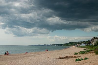 а дождь так и не пошел... Одесса Черное море облака тучи