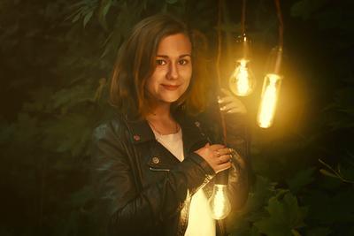 Лисичка с лампочками