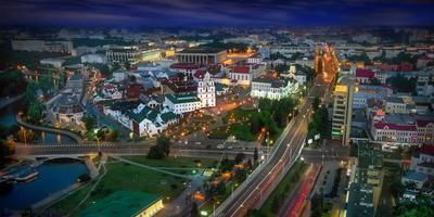 Игрушечный городок маленькой, но гордой страны беларусь город мир вечер фотосфера-минск