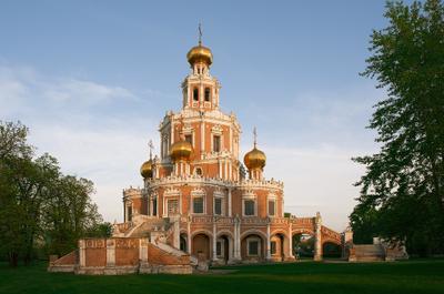Церковь Покрова в Филях Москва Фили церковь Покров барокко Нарышкин