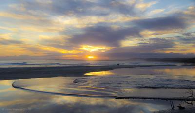 Flinders Beach пляж закат океан
