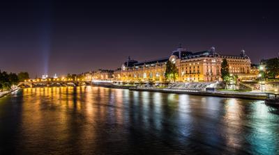 Ночью в Париже Париж Вокзал d3foto
