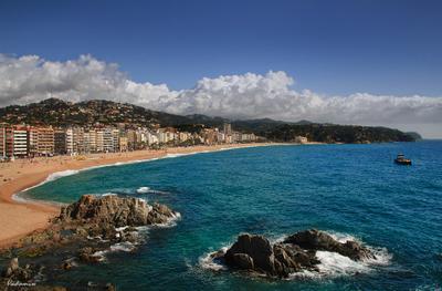 У самого синего моря Lloret_de_Mar Spain Коста_Брава Испания vakomin
