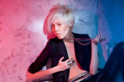 Poly fashion, model, portrait