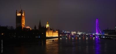 За час до Нового года лондон мост биг-бен дворец колесо london eye big-ben tower lambeth westminster