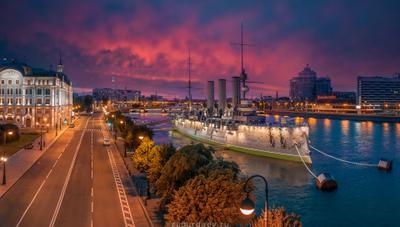 Крейсер «Аврора» россия петербург ночь лето