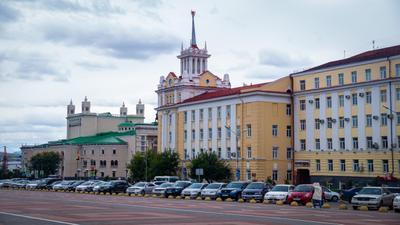 *** Россия Улан-Удэ уличноефото площадь