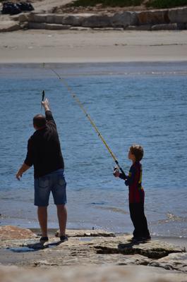 месси на рыбалке