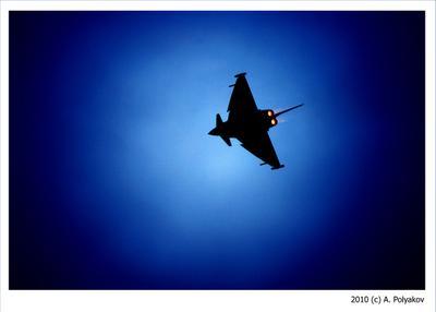 Eurofighter Typhoon небо истребитель силуэт