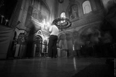 Разговор (из серии Израильские зарисовки) разговор, Русская Духовная Миссия, русская православная церковь, Иерусалим, Израиль, Jerusalem, Israel
