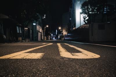 Ночной Токио Токио Япония